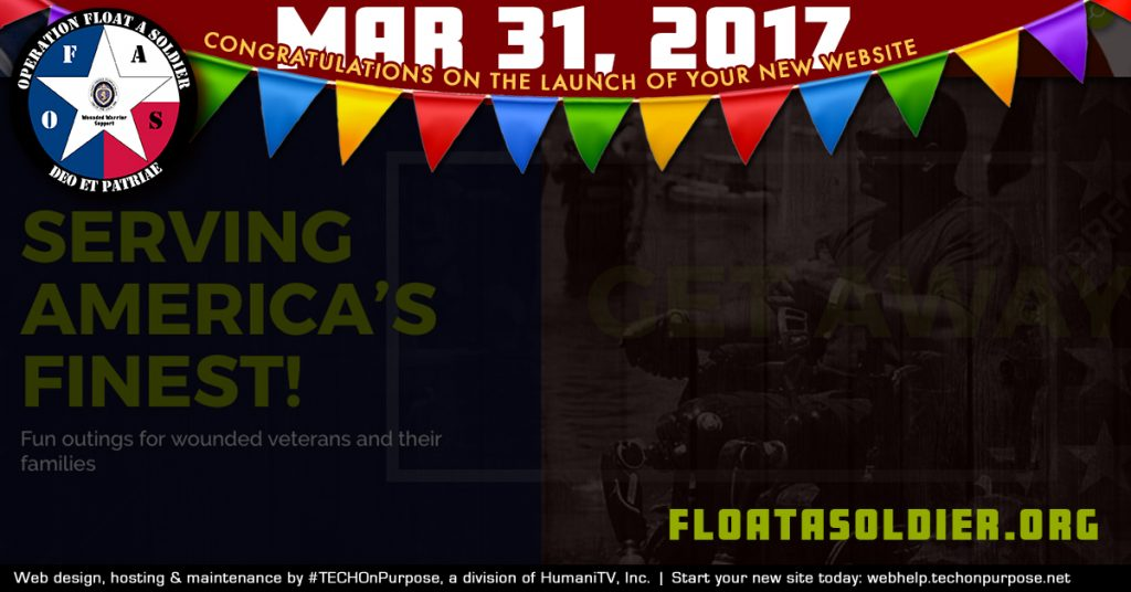 TECHOnPurpose launches another new site - floatasoldier.org